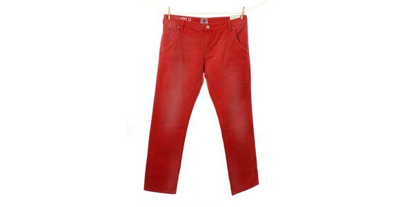 Pánske žiarivo červené nohavice Tommy Hilfiger