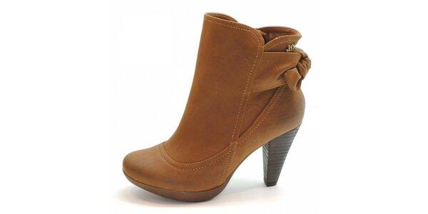 Ťavie kotníčkové topánky s mašľou Xti