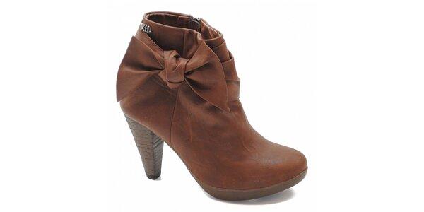 Hnedé topánky s mašľou Xti