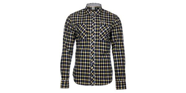 Pánska modro-žltá kockovaná košeľa Tommy Hilfiger