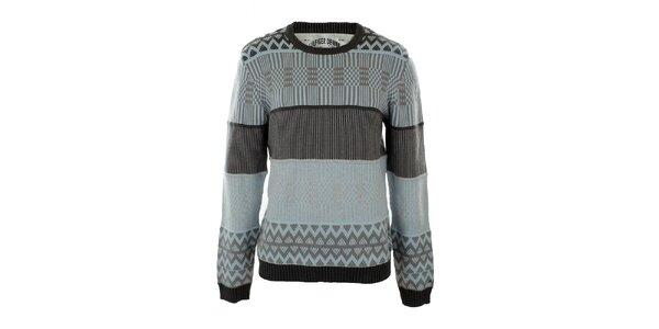 Pánsky blankytno modrý sveter so vzorom Tommy Hilfiger