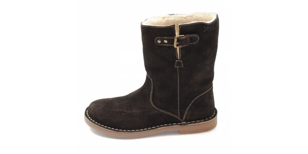 Dámske hnedé zimné topánky Xti