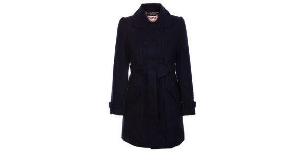 Dámsky temno modrý zimný kabát Yumi