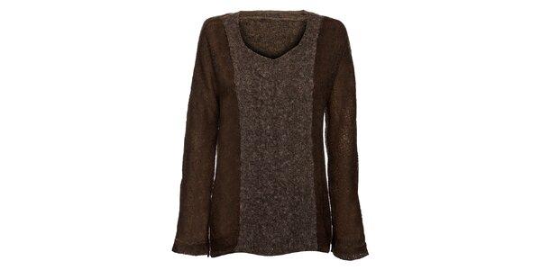 Hnedo-šedý dámsky sveter Bleifrei