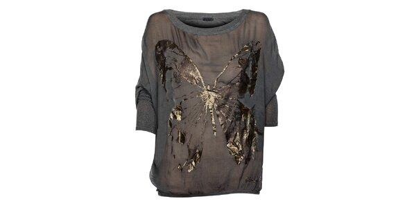 Šedé dámske tričko Bleifrei