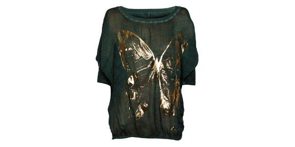 Tmavo zelené dámske tričko Bleifrei