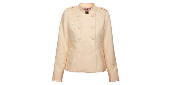 27b6234451d6 Dámsky krémový kabátik Yumi