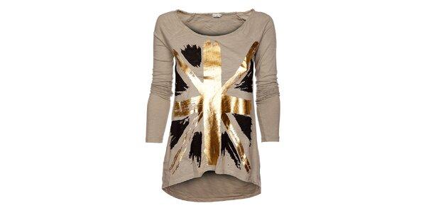 Béžové dámske tričko Bleifrei