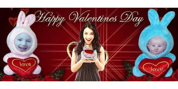 Valentínske mončiči s vašou fotografiou tváre