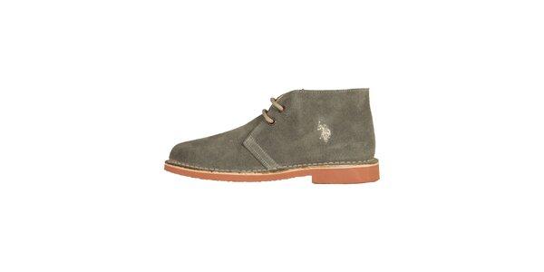 e1aed4cbe32a Dámske šedé šnurovacie topánky U.S. Polo