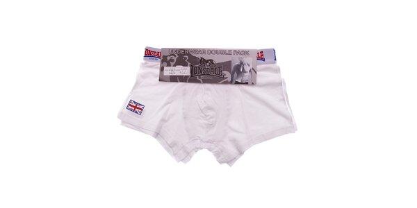 Set dvoch bielych pánskych boxeriek Lonsdale