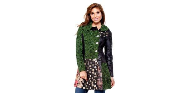 Dámsky čierno-zelený kabátik Peace&Love