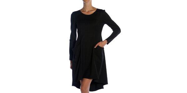 6ce836e272c8 Dámske čierne šaty s vreckami Gene