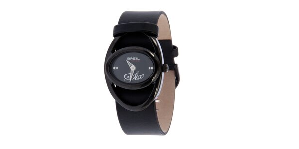 Dámske čierne analogové hodinky Breil
