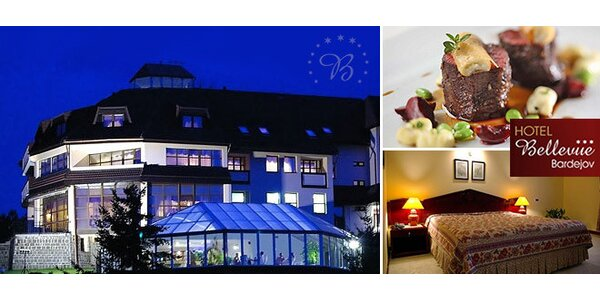 Luxusný hotel Bellevue*** Bardejov s wellnessom v Bardejovských kúpeľoch