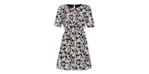 Dámske bieločierne šaty Iska
