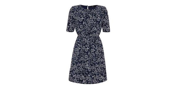 Dámske modré kvetinové šaty Iska