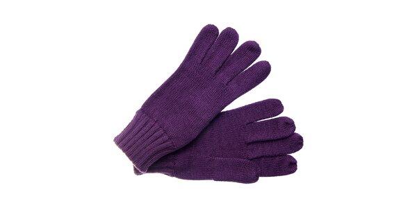 Dámske tmavo fialové rukavice Fraas