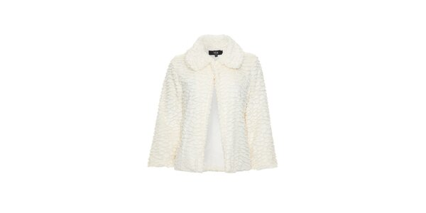 Dámsky krémovo biely kabátik Iska