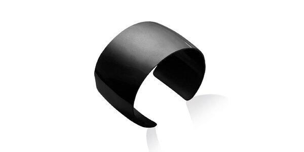 Dámsky jednoduchý čierny oceľový náramok La Mimossa