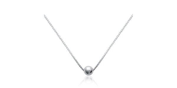 Dámsky strieborný náhrdelník La Mimossa s korálkom