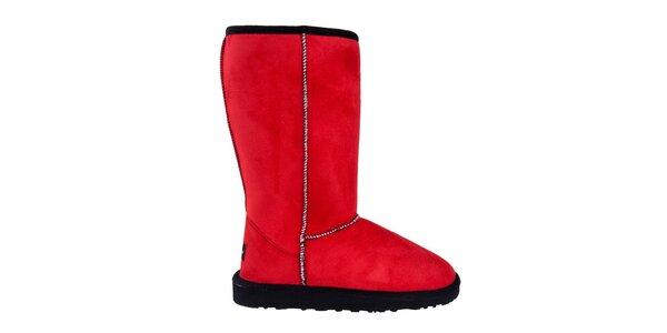 Dámske vysoké červené čižmy Via Bellucci