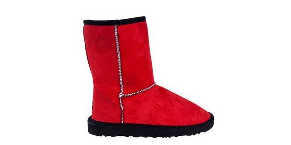 Dámske nízke červené čižmy Via Bellucci