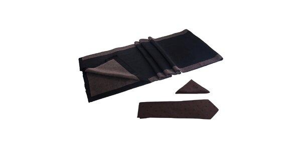 Pánska sada - šál, kravata a vreckovka Giorgio di Mare