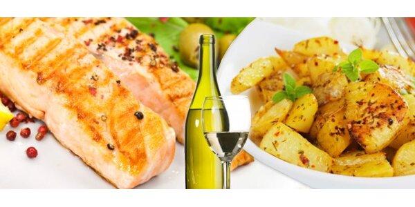 4,90 Eur za Zubáča s prílohou a vínom k tomu so zľavou 53%!