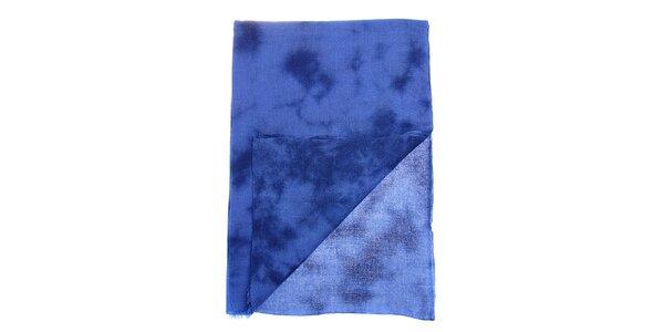 Dámsky modrý batikovaný šál Fraas
