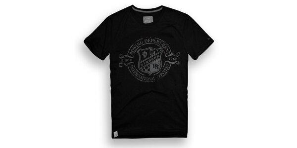 Pánske čierne tričko s vesliarskou potlačou Paul Stragas
