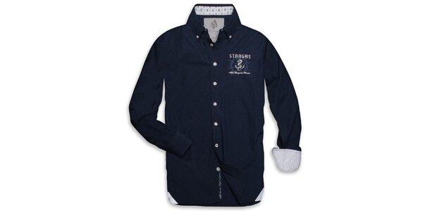Pánska tmavo modrá námornícka košeľa Paul Stragas