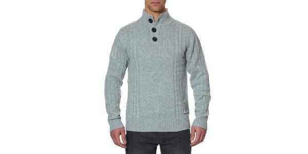 Pánsky šedý sveter s gombíkmi Paul Stragas