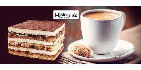 Lahodné espresso s tiramisu v centre Trnavy