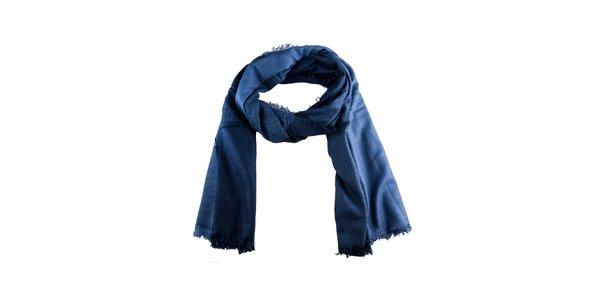 Dámsky modrý šál Via Bellucci