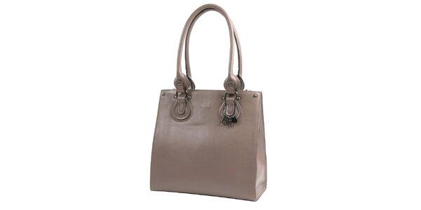 Dámska krémovo hnedá kabelka Bulaggi