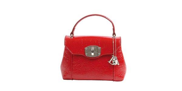 Dámska červená lakovaná kabelka Bulaggi