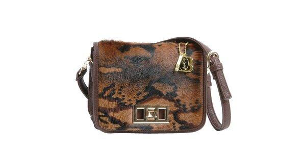 Dámska hnedá kožušinová kabelka Bulaggi