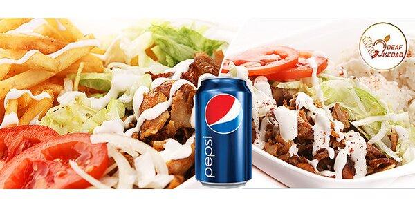 Bohatý 500 g Deaf kebab box s nápojom