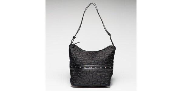 Dámska čierna látková taška prešívaná Gas