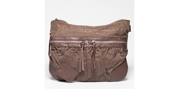 Dámska hnedá kabelka s radou vreciek Gas