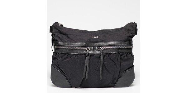 Dámska čierna kabelka s radou vreciek Gas