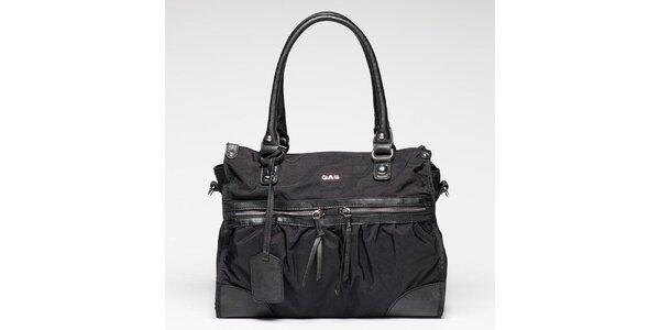 Dámska čierna kabelka s visačkou Gas