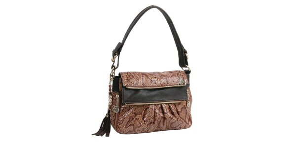 Orieškovo hnedá kabelka Bulaggi v imitácii hadej kože