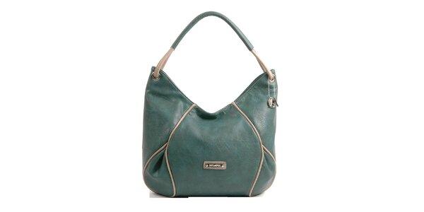 Dámska zeleno-šedá kabelka Bulaggi s béžovými detailami