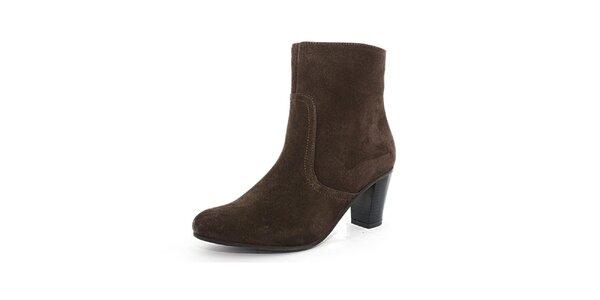 Dámske hnedé semišové topánky Toscania