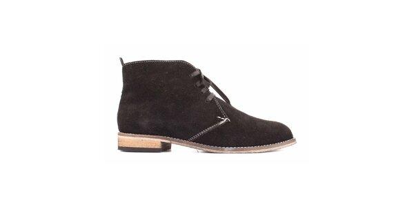 Dámske čierne semišové topánky Toscania