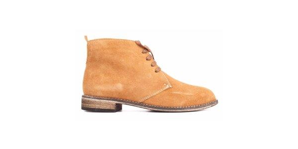 Dámske ťavie semišové topánky Toscania