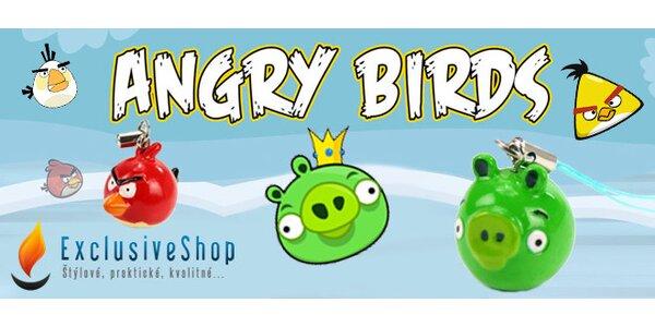 Kľúčenky s obľúbenými postavičkami Angry Birds