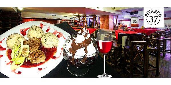 Vynikajúce valentínske menu s dezertom a vínom